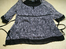 New York City Design Co Woman black silk top 1X lined RN#91104