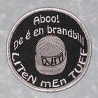 """Aboo! De é en brandbil! Liten Men Tuff Patch - Sweden Fire Truck 3 1/8"""" x 3 1/8"""""""