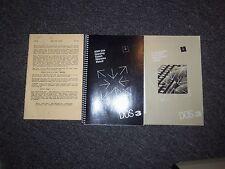 1983 Atari Disk Operating System DOS 3 Reference Manual Book