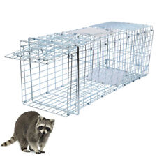 26'' Humane Live Animal Trap 1 Door Rodent Cage fit Rabbits Cat Raccoon Squirrel