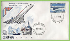 French Antarctic 1969 Air. First Flight of Concorde First Day Cover