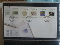 NEW ZEALAND 2005 150yrs OF STAMPS SET 5 STAMPS JUNE FDC FIRST DAY COVER