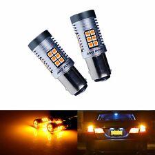 Ámbar 2x 380 BAY15D P21/5W 15W LED indicador de señal de vuelta de Freno De Cola Bombillas