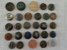 Grays Marbled (26) Mixed lot Vintage Buttons (#3817)