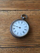 Pocket Watch Birmingham 1886 38Mm Antique Victorian Farringdon Co Solid Silver