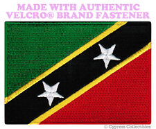ST. KITTS NEVIS FLAG PATCH CARIBBEAN EMBROIDERED new w/ VELCRO® Brand Fastener