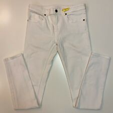 Burberry Girls Pants size 14 Y Skinny White Jean