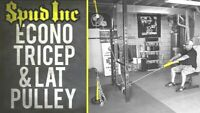 Spud Econo TRICEP & LAT PULLEY Pulldown Machine Cable Attachment Olympic Plates