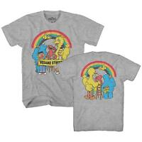 Rainbow Elmo Cookie Big Bird Bert Ernie Tee Funny  Adult Men's Graphic T-Shirt