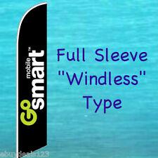 GO SMART MOBILE FEATHER FLAG Phone Advertising Sign Swooper Flutter Bow Banner