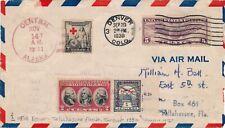 Lettre Airmail Flight Denver Postmark Alaska 1930 United State Cover