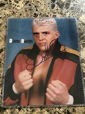 WWF WWE NWA WCW Dustin Rhodes Goldust Autographed 8x10 Promo Photo