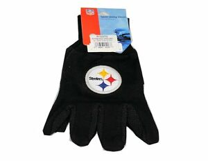 Pittsburg Steelers Black with Team Logo Licensed NFL Sport Utility Gloves-New!