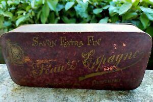 Ancienne Boîte carton à Savon PEAU D'ESPAGNE PARFUMERIE du LION WITZ COLAS-PARIS
