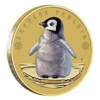 2017 AAT Emperor Penguins Tuvalu $1 Dollar Coloured UNC Coin Carded