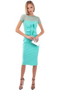 RRP€665 CHIARA BONI LA PETITE ROBE Pencil Dress Size 40 / S Stretch Tulle Insert