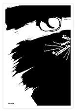 "Cuban movie Poster for""7 Hours of VIOLENCE""Italian film.Noir..Decorative design"