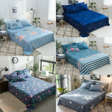 Whale Star Flamingo Bedding Sheets Size King Queen Cotton Bed Sheet Cover