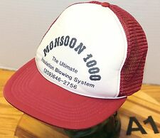 VINTAGE MONSOON 1000 INSULATION BLOWING SYSTEM TRUCKERS HAT SNAPBACK VGC A1