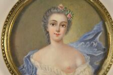 PORTRAIT MINIATURE SIGNE ANCIEN ANTIQUE SIGNED PAINTING