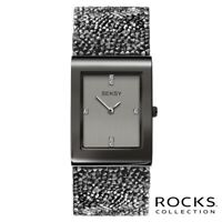 Sekonda Seksy Rocks Ladies Gun Metal Grey Crystal Stone Set Watch SK2654