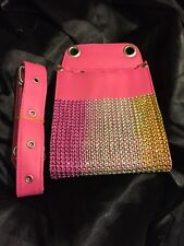 Stylist Hairdressing Scissors Pouch Holster Case Wallet shears salon barber Pink