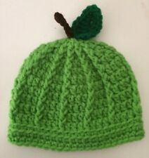 New Crochet Knit Apple Hat 0-3 Months Fall Photo Prop Your Choice Free Shipping!