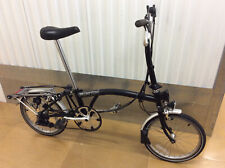 Brompton M6R Black 6 Speed with Rack Folding Bike Bicycle - Worldwide Shipping