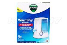 Vicks Warm Mist Single Room Air Vapor Humidifier w/Auto Shut-Off (V750)