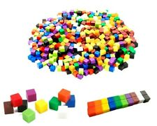 Rainbow Coloured Cubes 1cm Plastic x 100  Australian Teachers Resources