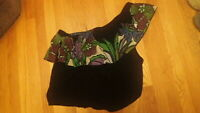 NEW Free People Womens Black Shirt Top Blouse Off Shoulder Size Large Cute  $78