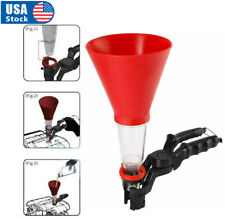 Universal Vehicle Plastic Filling Funnel with Soft Pipe Spout Pour Oil Tool Petrol Diesel Dweekiy Oil Filling Funnel