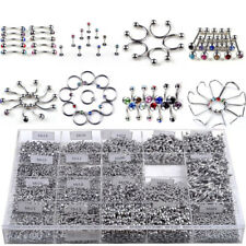 85pcs Body Piercing Jewellery Eyebrow Navel Tongue Bar Lip Nail Ring Mixing Kit