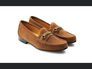 Fairfax & Favor BRAND NEW Apsley tan suede loafers UK6 EUR39 BNIB