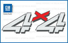 set of 2: 1999 <-> 2006 Chevy Silverado 4x4 decals - F - bed side 1500 2500 Hd