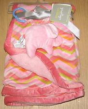 Blankets and beyond Chevron baby Blanket and elephant rattle NWT
