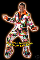FANCY DRESS COSTUME * DELUXE 70'S DISCO SUIT FANTASY M