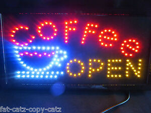 GREAT QUALITY COFFEE OPEN CAFE WINDOW SHOP NEON DISPLAY LED LIGHT SIGN UK SELLER