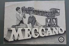 Meccano Handbuch Anleitung Nr ° 0 1959 Schwarz Und Weiß