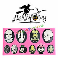 1pc Hot 3d Halloween Skull Silicone Mold Cake Decorating Baking Chocolate Mould