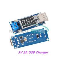 2PCS DC4.5-40V To 5V 2A USB Charger DC Step down buck Converter Voltmeter Module