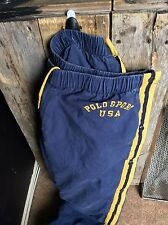 Vintage Size Large Polo Sport by Ralph Lauren Faded Blue Breakaway Jogging Pants