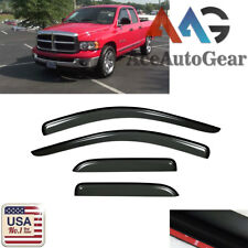 Window Visor Vent Shade Rain Guard For 2003-2009 Dodge Ram 2500/3500 Quad Cab