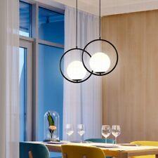 Glass Pendant Light Black Lamp Kitchen Chandelier Lighting Room Ceiling Lights