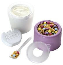 Contenitore Alimenti Porta Yogurt Portayogurt in Plastica Refrigerante 9x9x14 cm