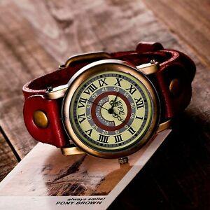 Wrist Watches For Women Ladies Retro Style Leather Quartz Watch Zegarek Damski R