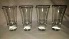 Shot Glasses Clear w/ Heavy Base (4)