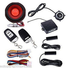 Passive Keyless Entry Car Alarm System W Push Button Start Remote Engine Starter