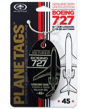 Donald J. Trump Boeing 727-200 Tail #VP-BDJ Genuine Aluminum Plane Skin Bag Tag