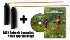 PACK BAGUETTES de sourcier + DVD Initiation (Paire Baguette coudée Laiton)